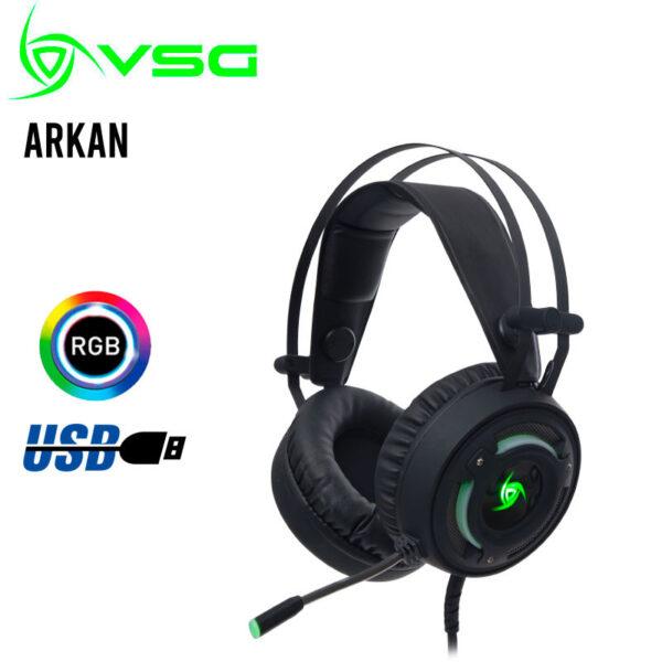 Audífono Gamer VSG Arkan Negro