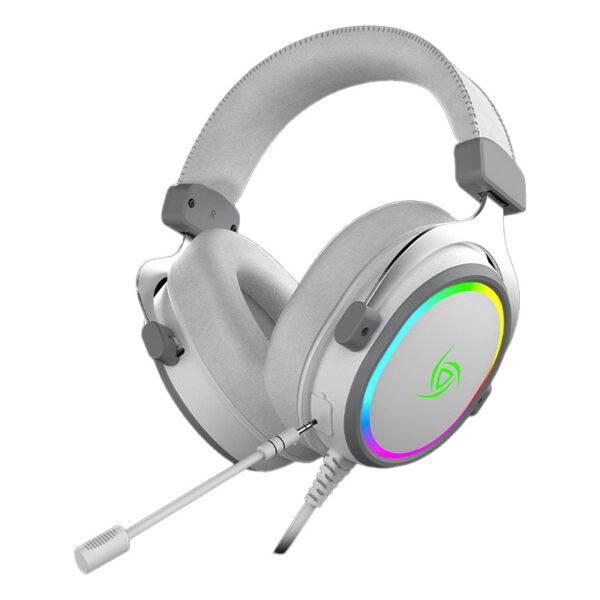 Audífonos Gamer VSG Singularity RGB BLANCO FRONTAL