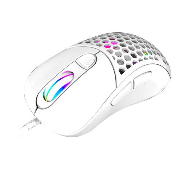 Mouse Gamer VSG Aquila Air Alámbrico BLANCO MATE DIAGONAL